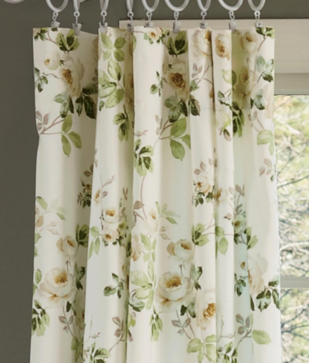 English Garden Floral Jacquard Kitchen Curtain Panels - Google ...