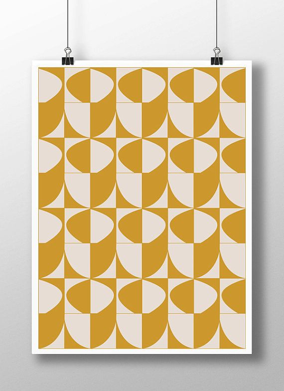 Mustard Yellow Decor,Yellow Wall Art,Yellow Artwork,Midcentury  Print,Midcentury Modern Art,Geometric Print,Large Prints,8x10 Print,11x14  Art