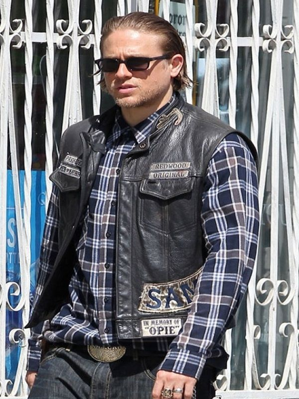Charlie Hunnam Sons Of Anarchy Jax Teller Vest Top Celebs Jackets Charlie Hunnam Sons Of Anarchy Jax Teller