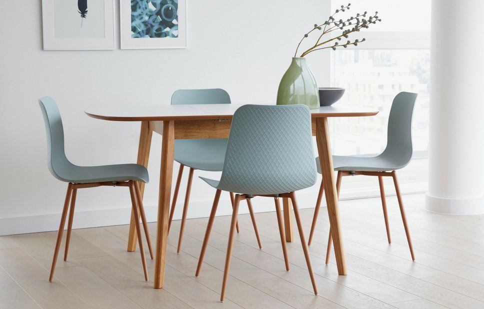 Kenos Extendable Dining Set With 4 Chairs Small Dining Sets Buy