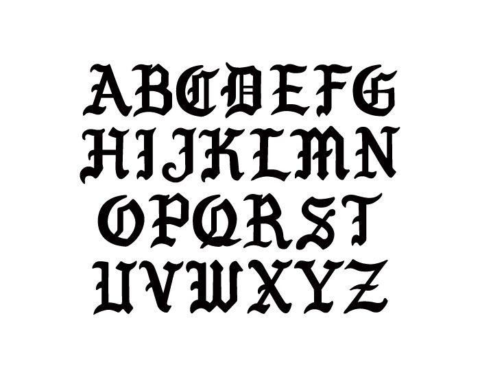 Nemek Gothic Font Alfabeto Fontes De Tatuagem Estilos De Letras