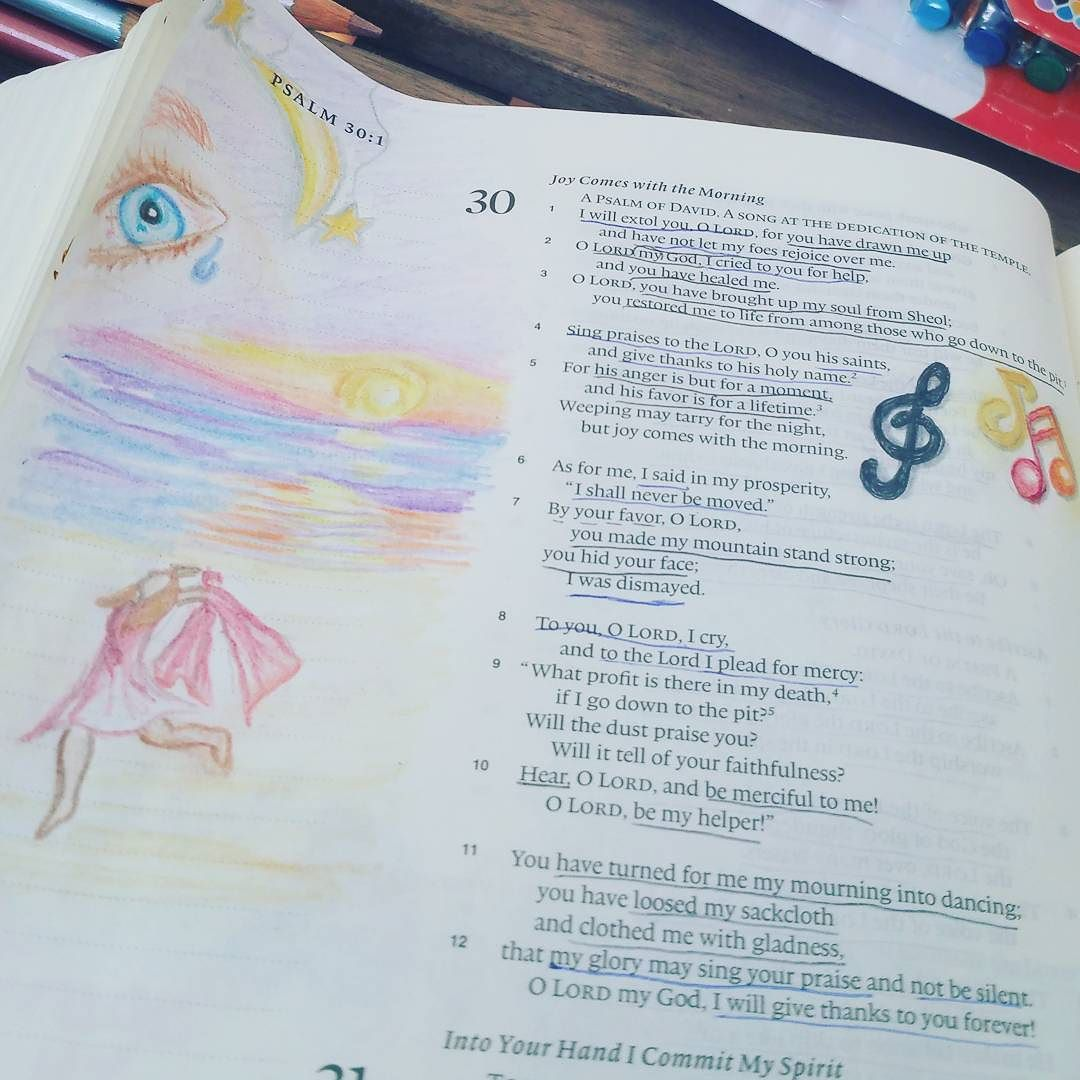 Psalm 30 #biblejournaling by kb3mqz