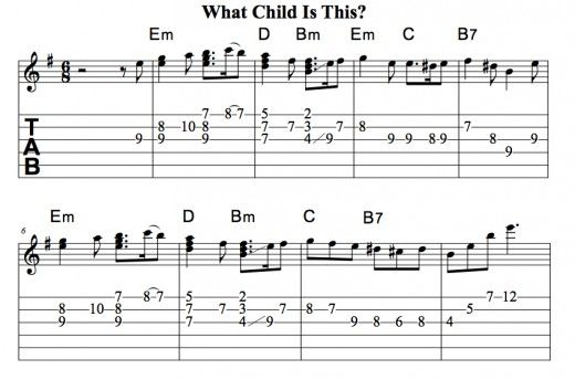 Easy Guitar Christmas Songs • What Child Is This? (Greensleeves ...