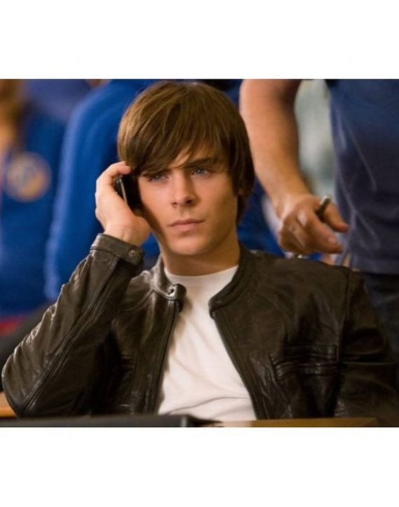 17 Again OBLOW Zac Efron Black Leather by