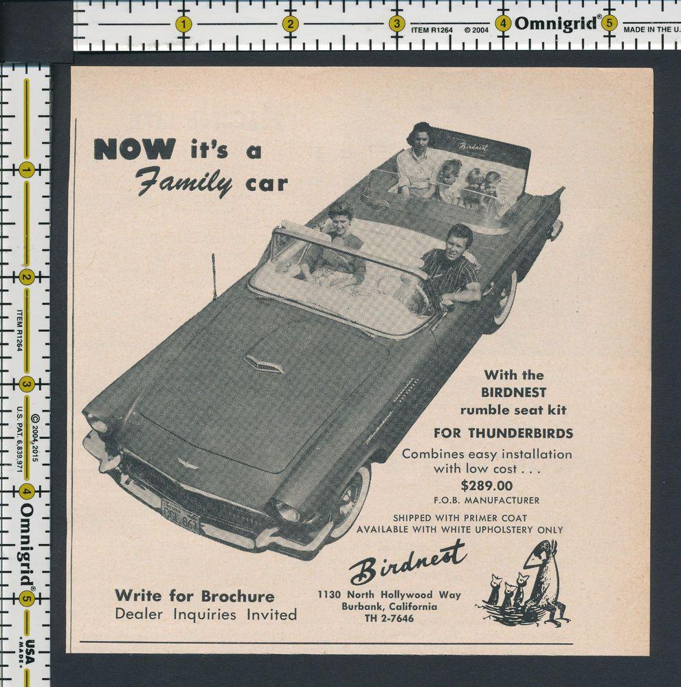 Birdnest Rumble Seat Kit for Thunderbird car auto 1957 magazine ...