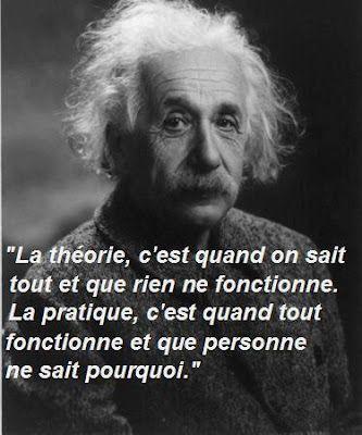 La théorie et la pratique. | citations | Citas, Frases et Einstein