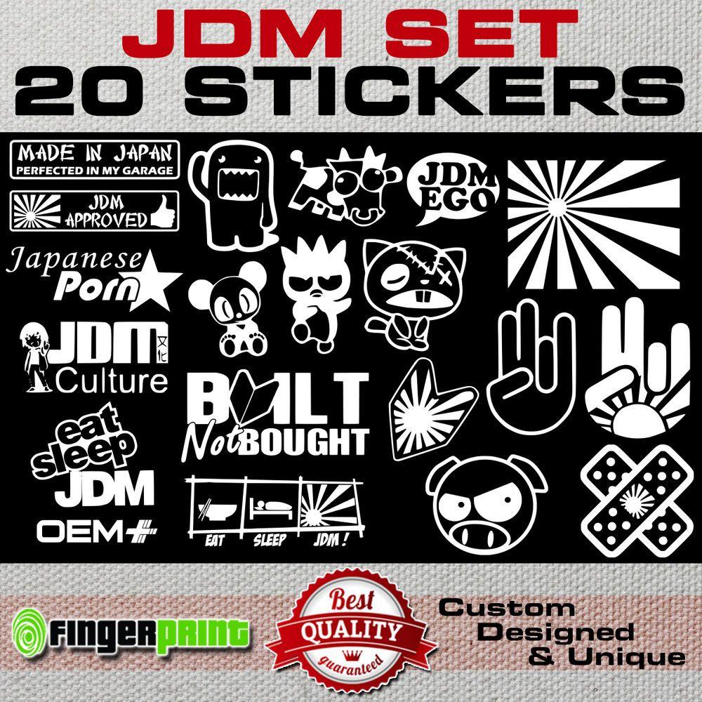 JDM DECAL SET sticker vinyl stickerbomb hella illest stance low life honda japan #FingerprintDesign