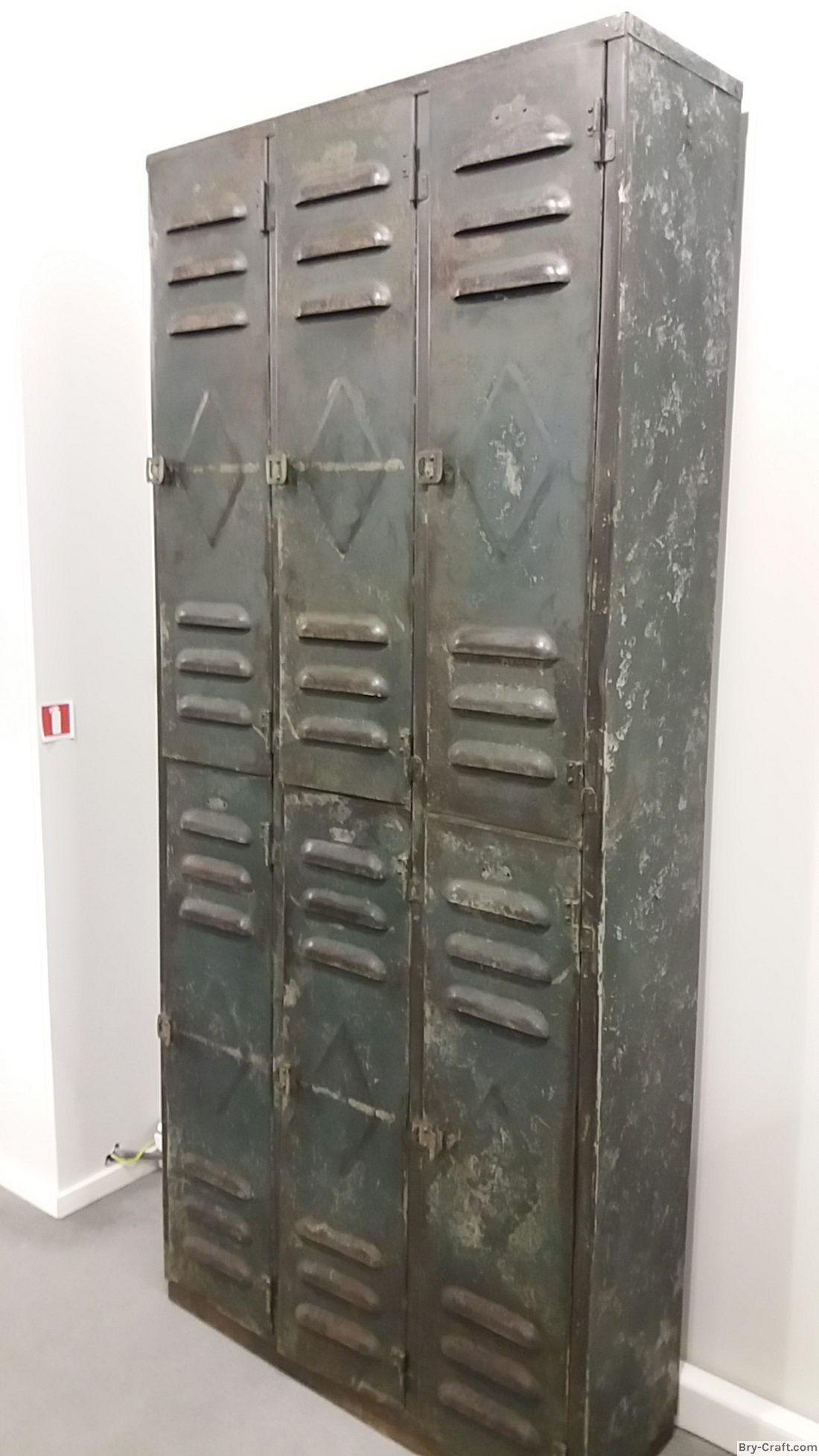 Bry Craft Com Industrial 6 Doors Metal Locker Nice Patina Armadio Ferro Armadio
