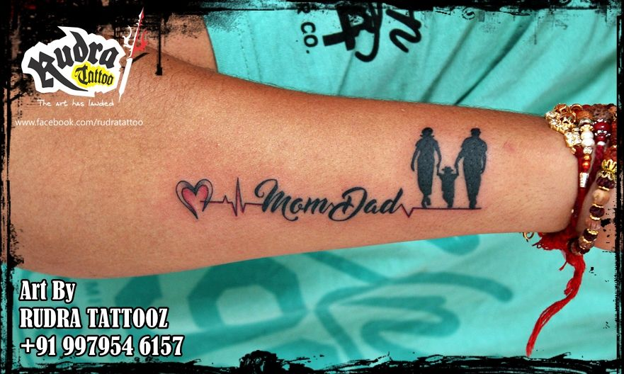 Mom Dad Tattoo 91 9979546157 Dad Tattoos Mom Dad Tattoos Mom Tattoos