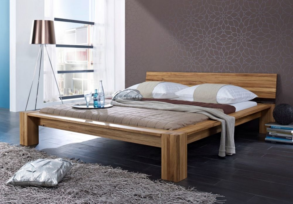 LILO Doppelbett Wildeiche massiv geölt 140 x 200 Solid wood double
