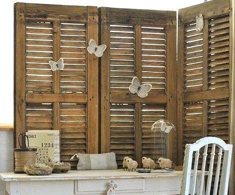 déco et recyclage de vieux volets et persiennes en bois