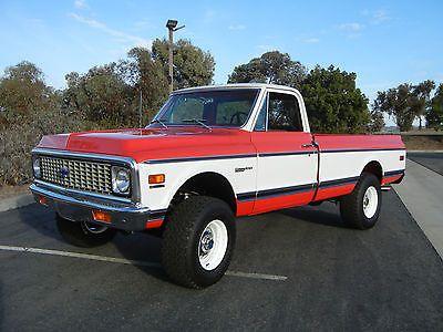 1972 Chevrolet K20 Ton 4x4 K10 K30 1971 1970 1969 C20 C10 Chevy Trucks Classic Chevy Trucks Chevrolet
