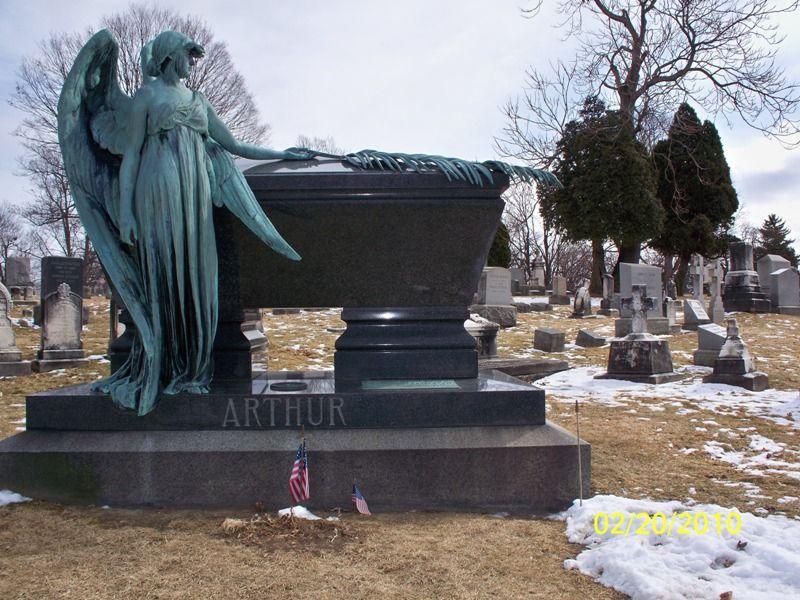 21st First Lady Ellen Lewis Herndon Arthur grave site area