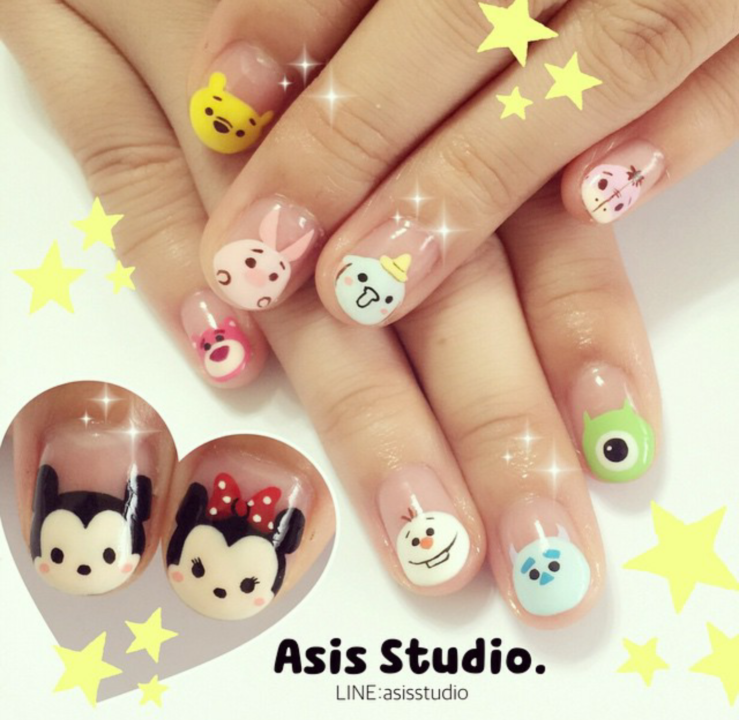 Disney characters @asisstudio #disney #monstersinc #frozen ...