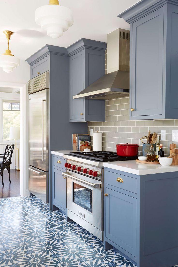 Modern Deco Kitchen Reveal Emily Henderson Grey Painted Kitchen Kitchen Cabinets Painted Grey Kitchen Cabinet Design