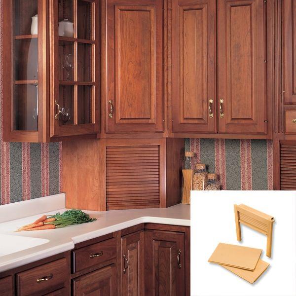 Omega National Products 24 Inch Corner Appliance Garage Red Oak Ag 100cvr Appliance Garage Kitchen Corner Rustic Kitchen
