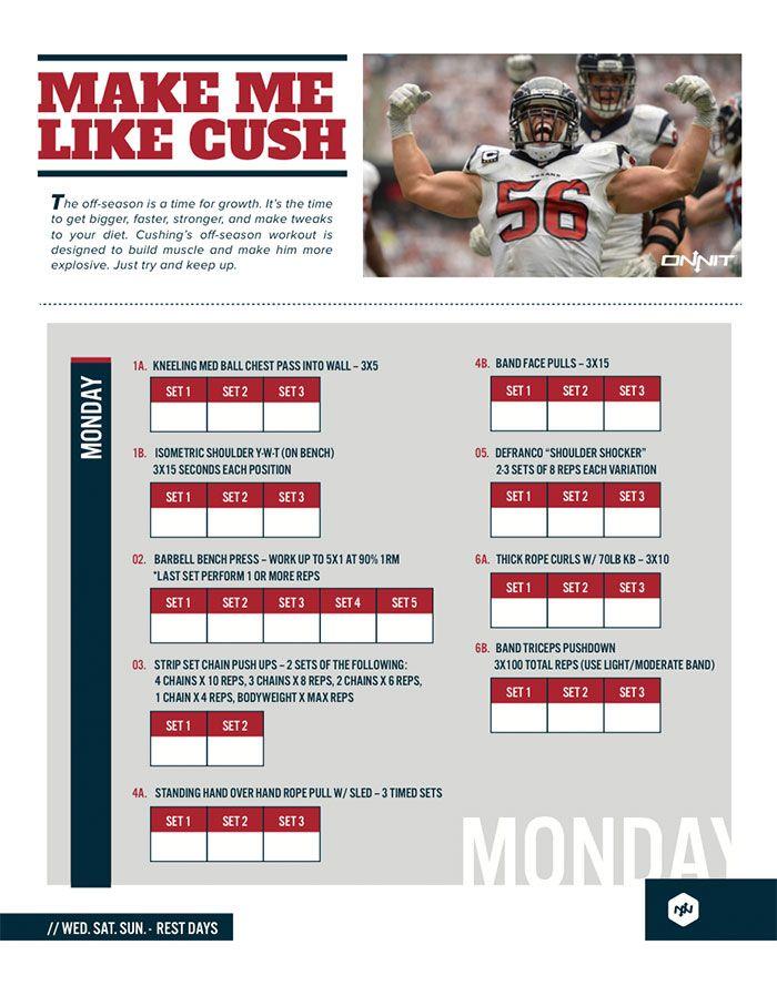 Train Like An NFL Linebacker: Brian Cushing Workout | Goals