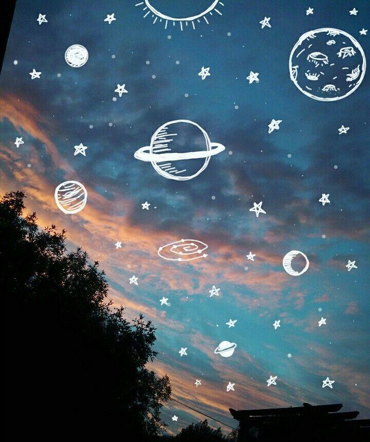 Usy Yeѕyeyanye A Wnsℓye ѕnyeyet Sf Gsℓ ѕtayaѕ Aesthetic Space Aesthetic Wallpapers Sky Aesthetic