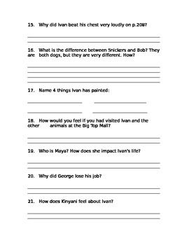 comprehension exam the one and only ivan school pinterest