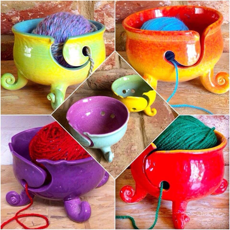 Bols a pelote ceramic yarn bowl yarn bowl knitting bowl