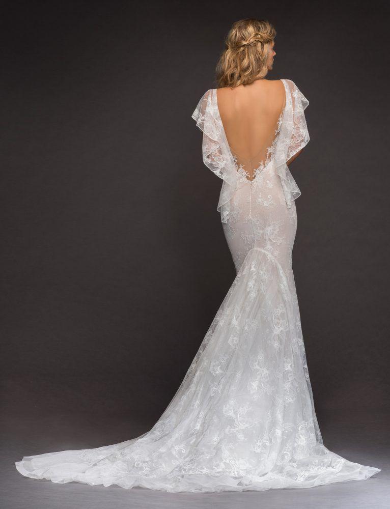 d6843404eaf Open Back Flutter Sleeve Lace Wedding Dress by Hayley Paige - Image 2