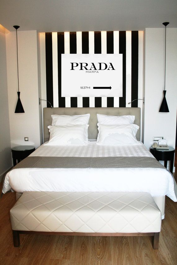 prada marfa canvas sign by selisehome on etsy love home decor - Blair Waldorf Schlafzimmer Dekor