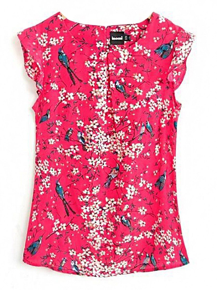 30d175876b30e5 Specifications Product Name: Round Neck Floral Printed Sleeveless T-Shirt  Weight: 180(g) Pattern Type: Printed / Floral Occasion: Date Package  Included: Top ...