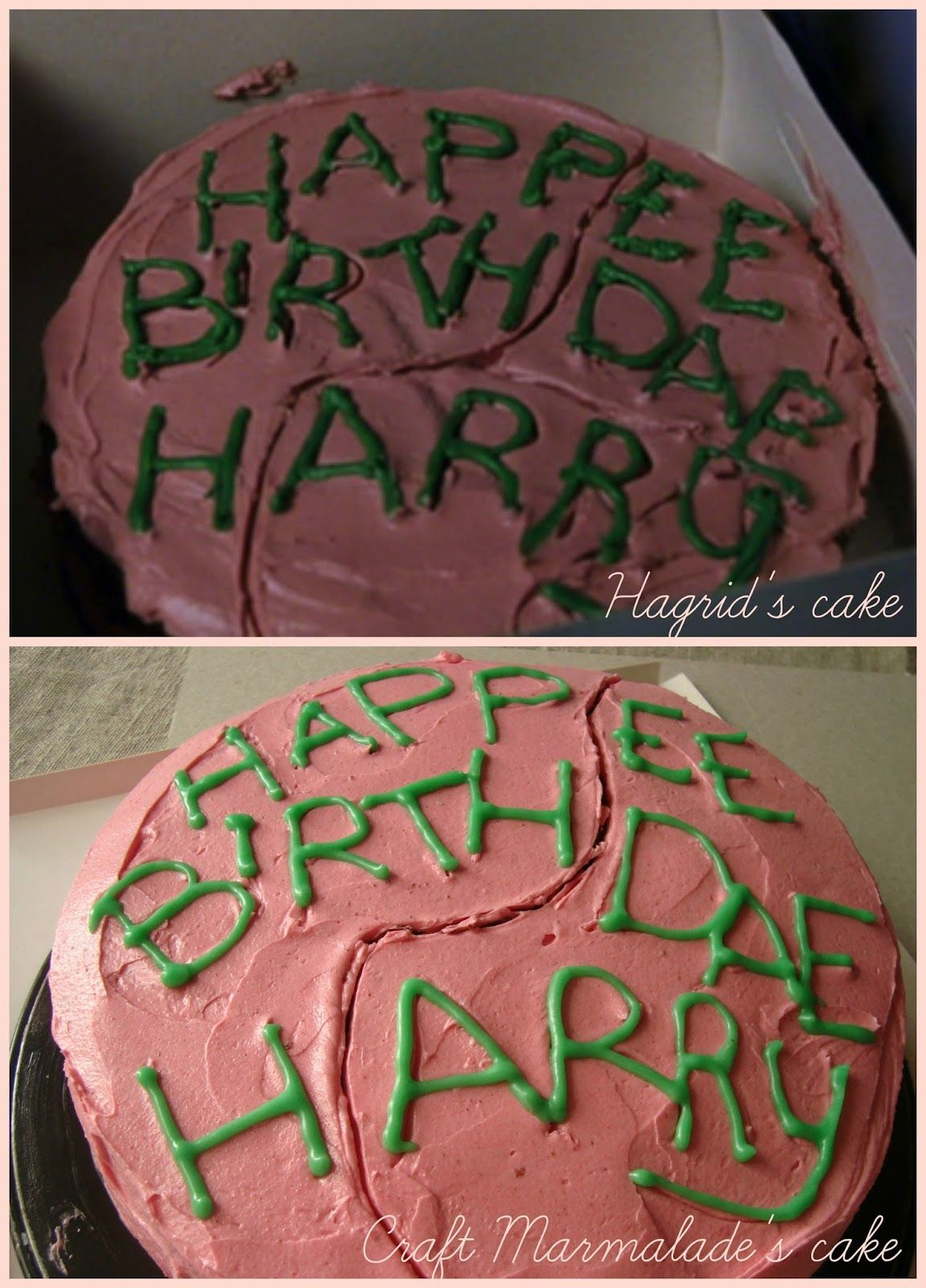 Craft Marmalade Harry Potter Birthday Cake Chocolate Layer Cake