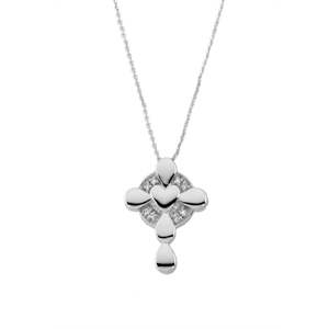 """Sterling Silver locket w/ 18"""" chain  Design by Deborah Birdoes for her Inspirational Blessings line. Poem included with necklace.  $105."""