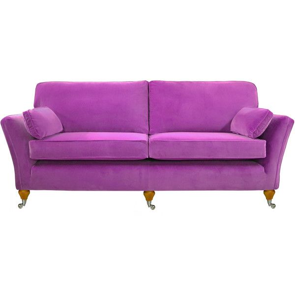 Osborne Extra Large Sofa in Designers Guild Varese Mauve (£2,499) ❤ liked on Polyvore featuring home, furniture, sofas, hand made furniture, chrome furniture, handmade furniture, handcrafted furniture and traditional sofas