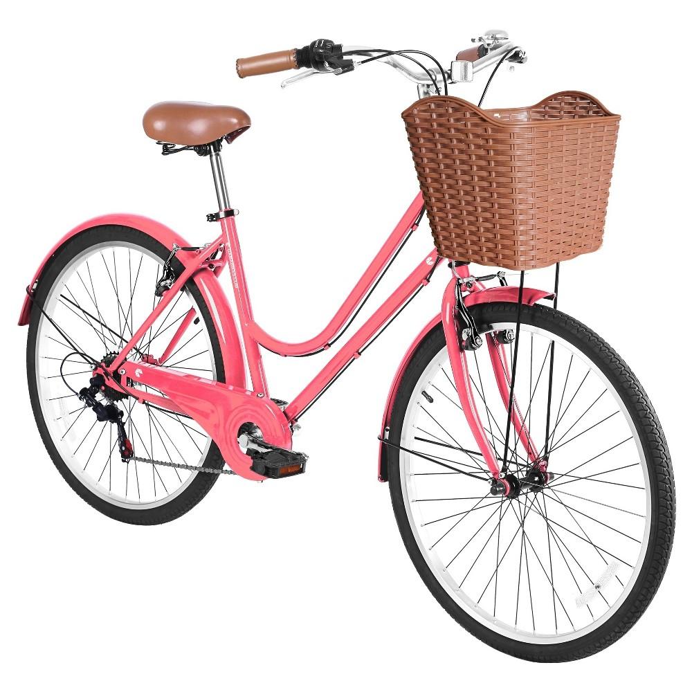 Gama Women S 26 City Basic Hybrid Bike Light Pink Hybrid Bike