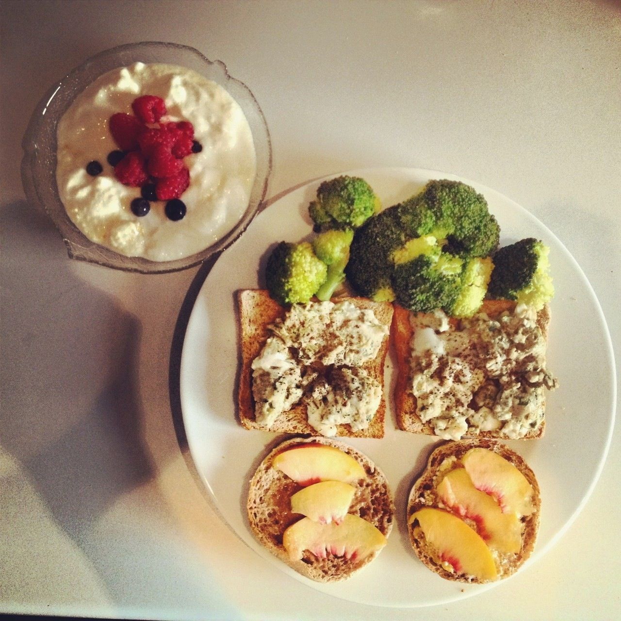 2 Perfect Scrambled Eggs On Whole Wheat Toasts With Broccoli One Toast Cottage