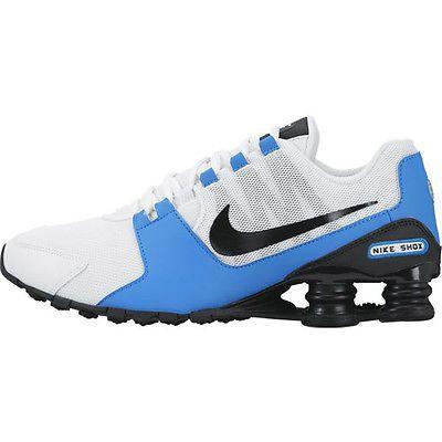 150b814cc71 Nike Shox Avenue Mens 833583-104 White Black Blue Athletic Running Shoes Sz  10.5
