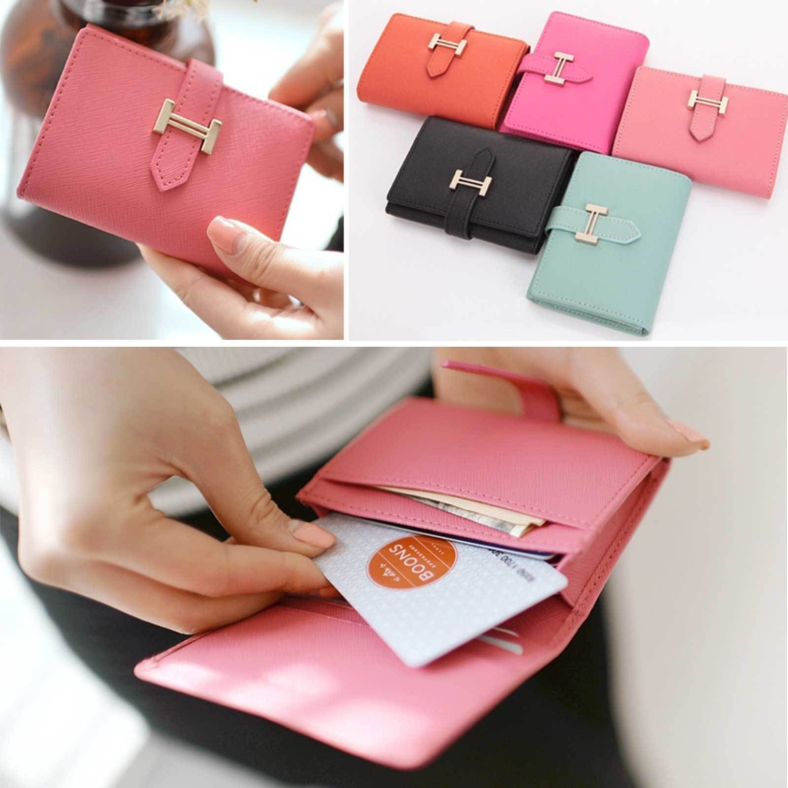Genuine Leather Name Card Case Business Card Wallet Womens Credit Card Holder Business Card Wallet Card Wallet Wallet