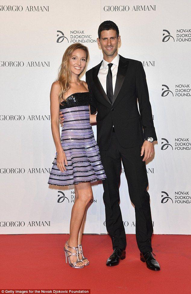 Razzle Dazzle Novak Djokovic S Wife Jelena Truly Silenced Her Doubters As She Graced The Red Carpet At The Ga Sparkle Gown Novak Djokovic Evolution Of Fashion