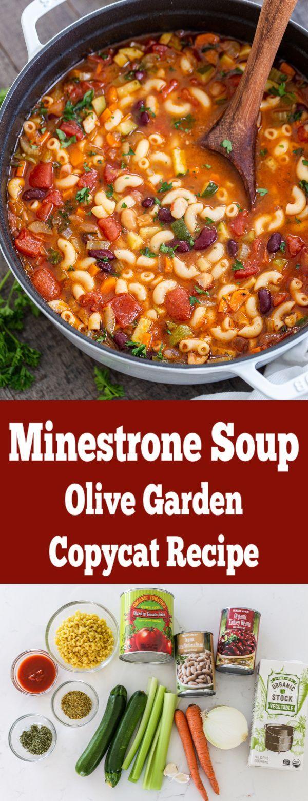 Minestrone Soup (Olive Garden Copycat) – Momsdish