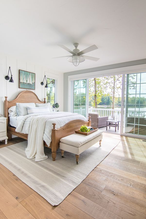 Lake House Master Bedroom The Lilypad Cottage House Decorating Ideas Bedroom Lakehouse Bedroom Bedroom Design