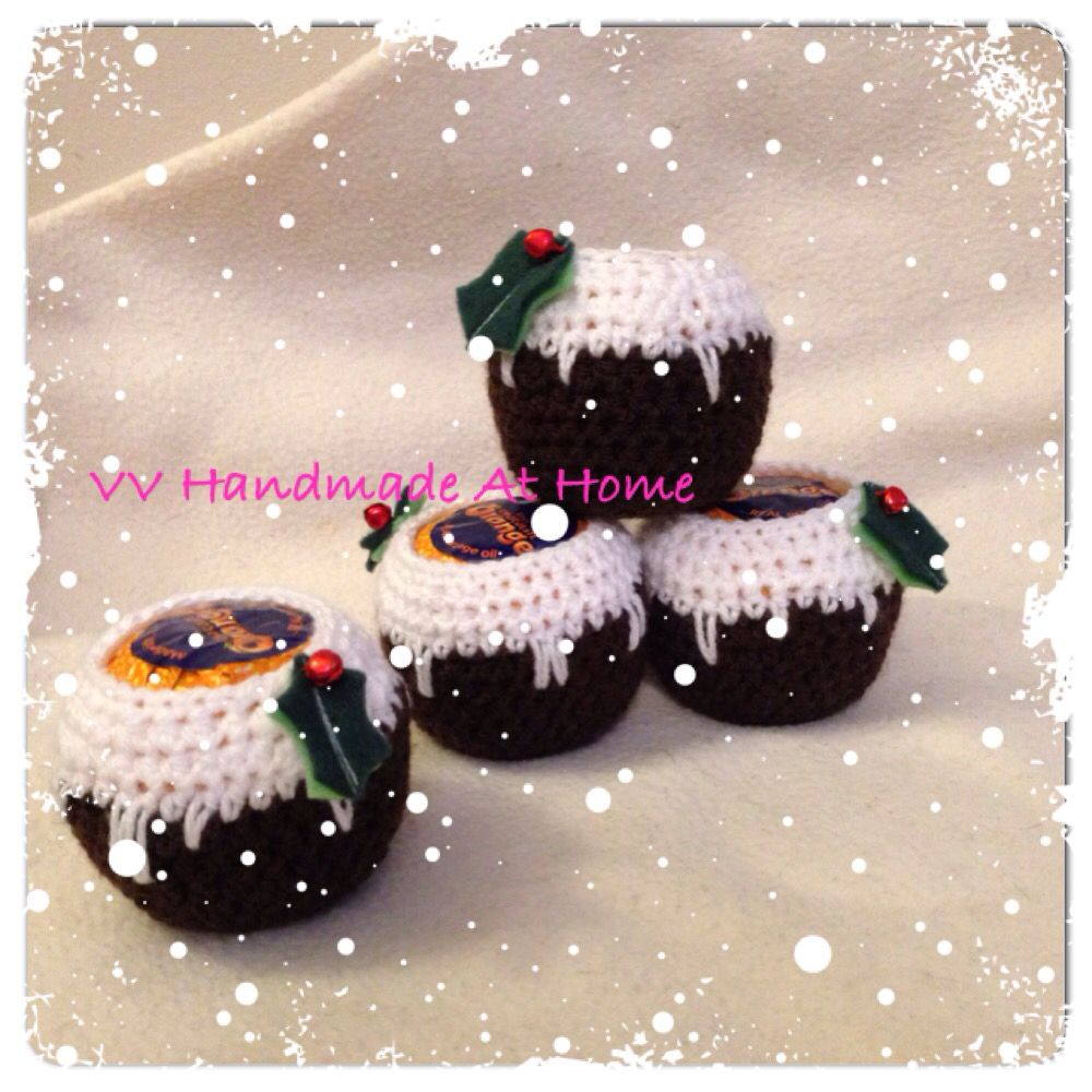 Chocolate Orange Puddings. My own pattern. Love these