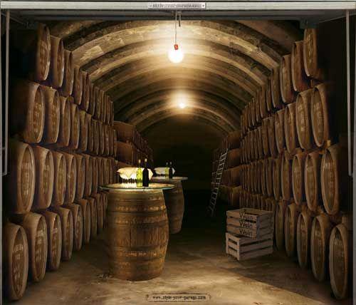 Wine cellar garage door decal garage doors pinterest for Garage wine cellar