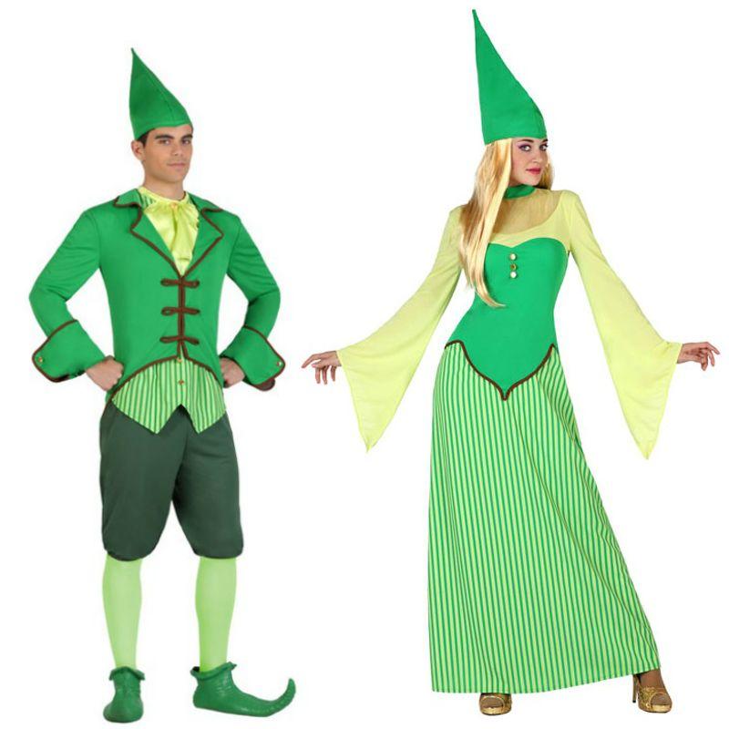 Pareja disfraces de duendes irlandeses parejas disfraces - Disfraces duendes navidenos ...