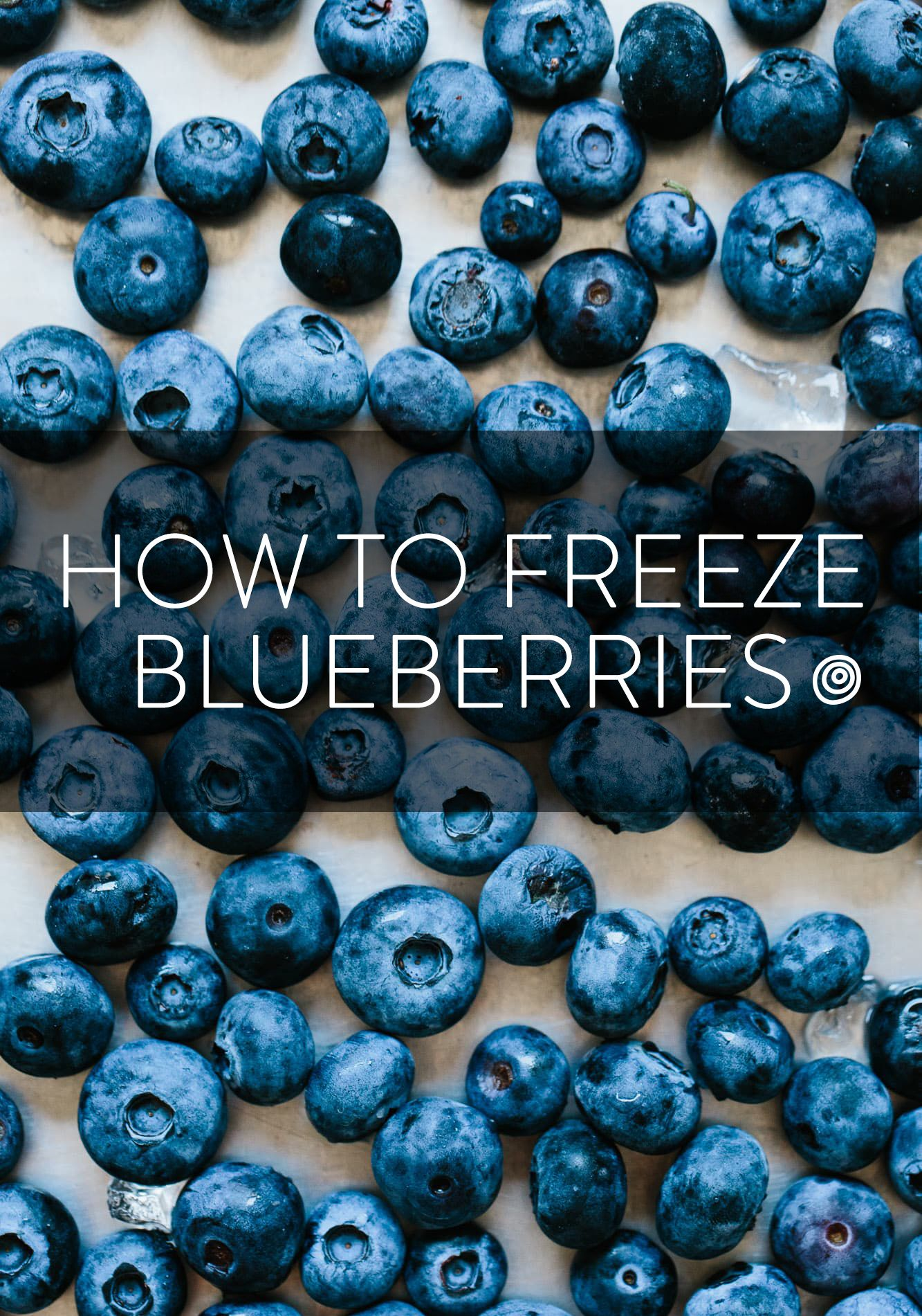 How to freeze blueberries recipe frozen blueberries