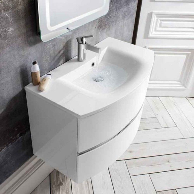 Crosswater Svelte 80 Wall Hung Vanity Unit With Basin Wall Hung Vanity Basin Vanity Unit Vanity Units