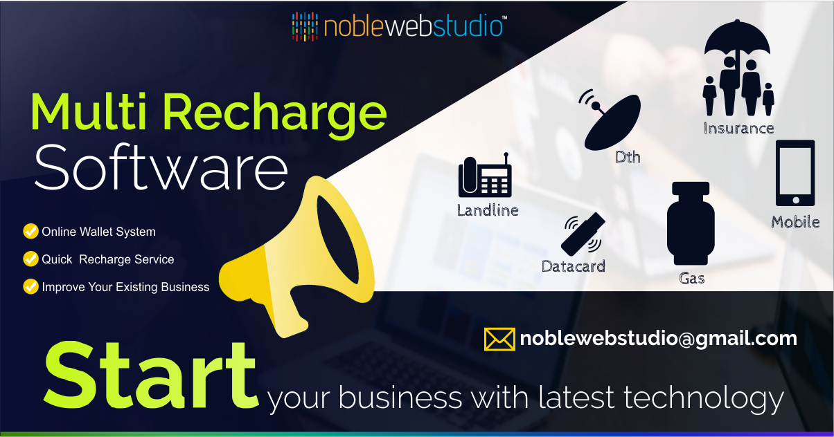 Pin by Noble Web Studio Pvt Ltd on Mobile Recharge Software