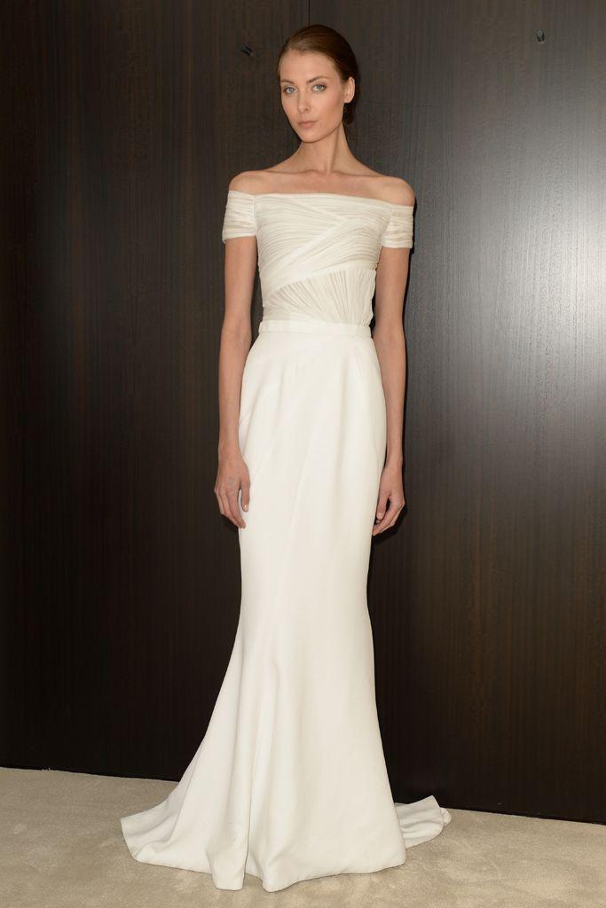 J Mendel Bridal Spring 2016 Minimalist Wedding Dresses Fit And Flare Wedding Dress Simple Gowns