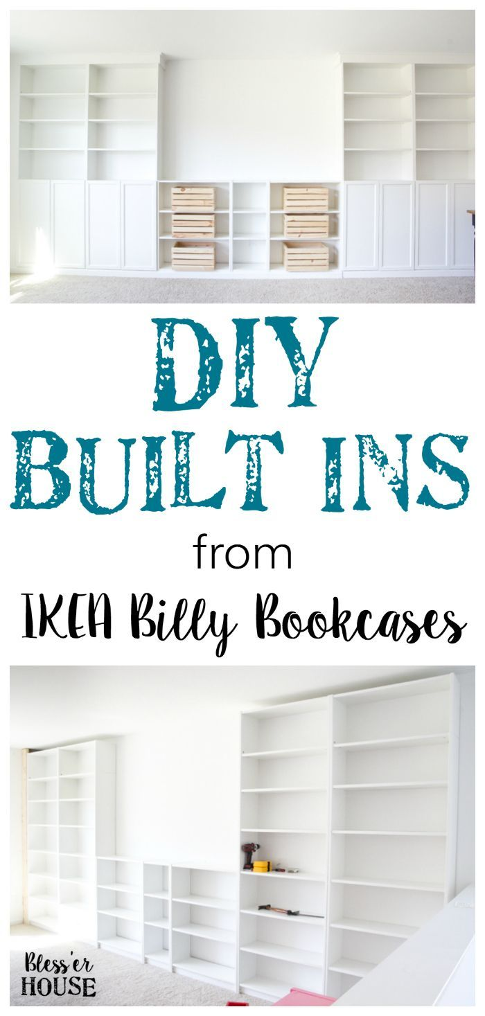 diy built ins from ikea bookcases orc week 2 vertical storage