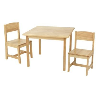 KidKraft Aspen Table and Chair Set - Natural Looking into for nieces ...