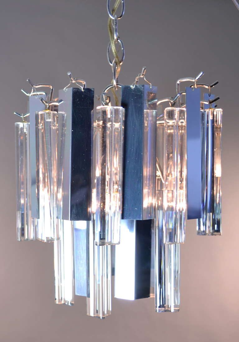 Camer steel and glass chandelier petite chandeliers and steel camer steel and glass chandelier aloadofball Image collections