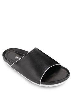 1681b6cec1cc4f ZALORA Pool Slide Slippers  onlineshop  onlineshopping  lazadaphilippines   lazada  zaloraphilippines  zalora