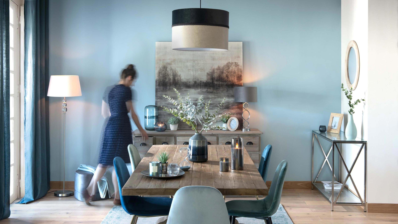 Epingle Par Morgane Dechevre Sur Idees Deco Brico Maison Du Monde Salle A Manger Bleue Tendance Deco