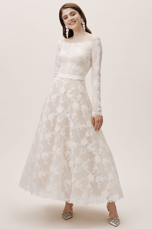 Justine Gown From Bhldn Wedding Dress Long Sleeve A Line Wedding Dress Dresses [ 3000 x 2000 Pixel ]